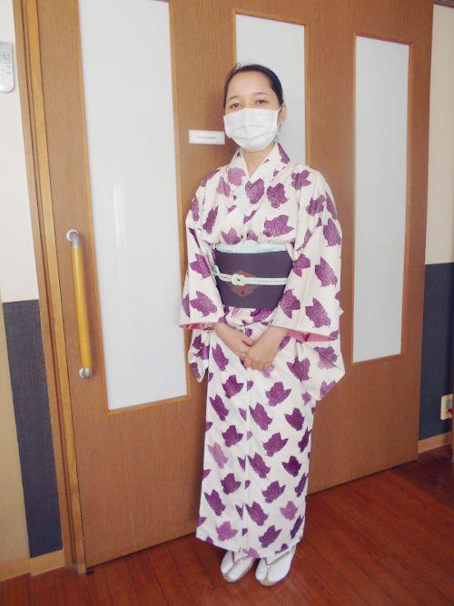 日本で働くベトナム人スタッフの浴衣姿